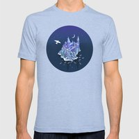 Hogwarts series (year 1: the Philosopher's Stone) Mens Fitted Tee Tri-Blue SMALL