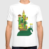 The Slow King Mens Fitted Tee White SMALL