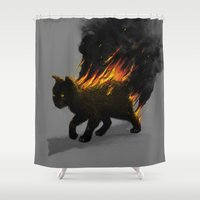 This Cat Is On Fire! Shower Curtain