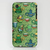 iPhone 3Gs & iPhone 3G Cases featuring Tea green pattern by Julia Badeeva