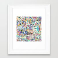 Geometric Abstract Lines… Framed Art Print