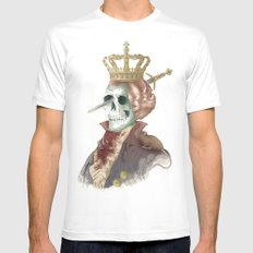 I LOVE THE KING SMALL White Mens Fitted Tee