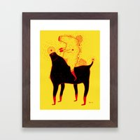 Yellow Rider Framed Art Print