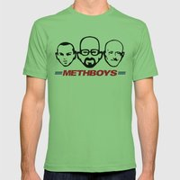 Meth Boys Mens Fitted Tee Grass SMALL