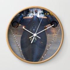 Sr71-Blackbird at the Dulles Air & Space Museum Wall Clock