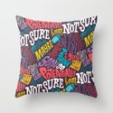 Pattern of Uncertainty Throw Pillow