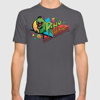 Dino Rollers Logo Mens Fitted Tee Asphalt SMALL