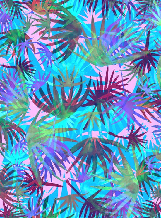 Tropicana - Blue Art Print