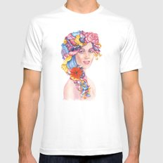 Goddess : Flora Mens Fitted Tee SMALL White