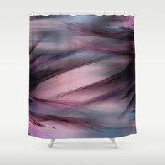 Soft Hazy Mauve Abstract Shower Curtain