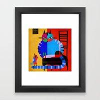 BLACK CHAIR Framed Art Print