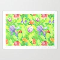 Crayon Love Springtime Art Print
