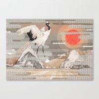 Japanese Crane  Canvas Print