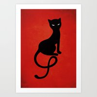Red Gracious Evil Black … Art Print