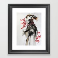 Burning Like A Bridge Th… Framed Art Print