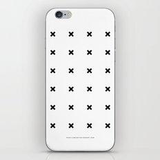 Black X on White iPhone & iPod Skin