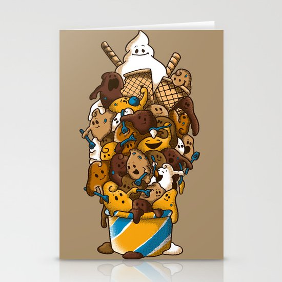 Ice Cream Time Stationery Card