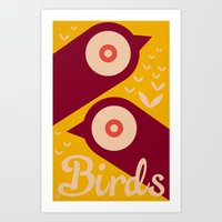 BIRDS 2 Art Print