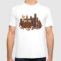 Großstadteulen  Mens Fitted Tee White SMALL