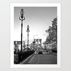 WHITEOUT : Brooklyn Bridge Art Print