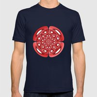 Symmetry Mens Fitted Tee Navy SMALL