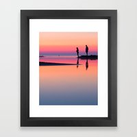 Pastels At Sunset Framed Art Print