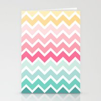 Candy Chevron Stationery Cards