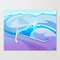 Cross Country Skier Abst… Canvas Print