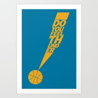 Do You Feel the Thunder? (Blue) Art Print