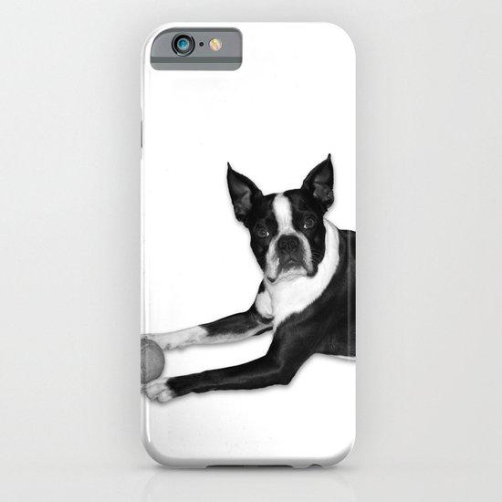 Fetch Boston Terrier B/W iPhone & iPod Case