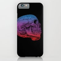 iPhone Cases featuring Rainbow Skull Joy by Rachel Caldwell