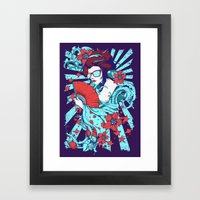Retro Diva Framed Art Print