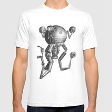 Mr Gutsy White Mens Fitted Tee SMALL