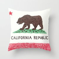 The California Republic Throw Pillow