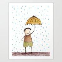Rainy afternoon Art Print