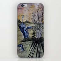 Blue Breaching Whale  iPhone & iPod Skin