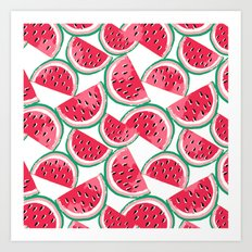 watermelon white Art Print