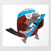 Rockin' Pallas Rose Finch Art Print
