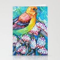 birds and mushrooms Stationery Cards