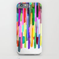 iPhone Cases featuring Colorful Stripes 4 by Mareike Böhmer Graphics