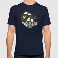 Big bird. Mens Fitted Tee Navy SMALL