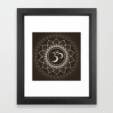 Espresso Brown Om Mandal… Framed Art Print
