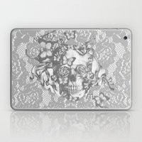 Ashes to Ashes lace skull Laptop & iPad Skin
