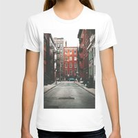 Gay Street NYC Womens Fitted Tee White SMALL