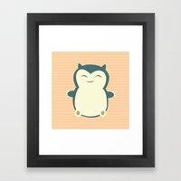 It Aint Easy Being Sleep… Framed Art Print