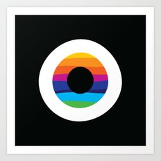 Rainbow evil eye Art Print