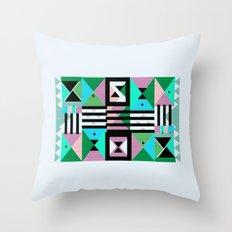 Blue Triangulation Throw Pillow