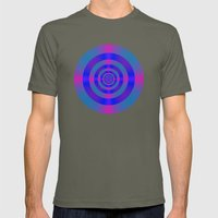 Blue Violet and Pink Target Mens Fitted Tee Lieutenant SMALL