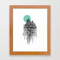 City Drips Framed Art Print