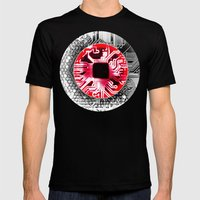 circuit board Japan (Flag) Mens Fitted Tee Black SMALL
